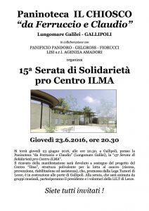 23/06 Gallipoli – 15ma Serata di beneficenza pro Centro di Ricerca Ilma