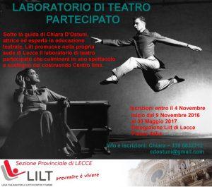 Lecce 9 novembre: Laboratorio di teatro partecipato