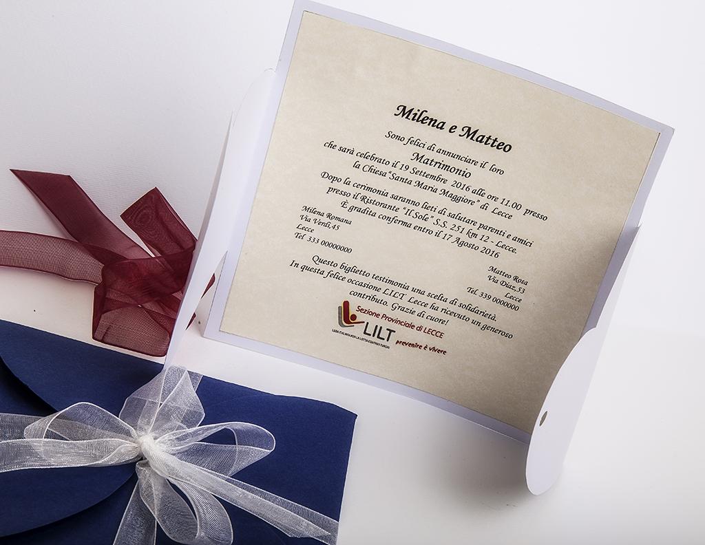 Partecipazioni Matrimonio Lecce.Partecipazione A Cuore Lega Italiana Per La Lotta Contro I