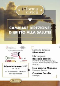 Corigliano d'Otranto 4 Marzo: Cambiare direzione