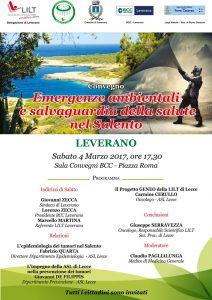 Sabato 4/03 Leverano: Emergenze ambientali e salvaguardia della salute nel Salento