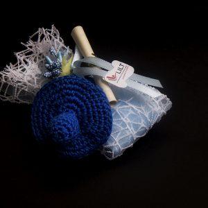 BATTESIMO Ciuccetto Uncinetto con confetti