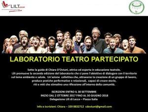 Riparte la 2da ed. del laboratorio di Teatro Partecipato