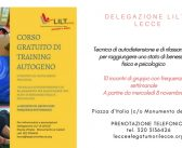 8/11 Lecce – Corso gratuito di training autogeno