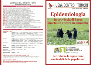 Rivista n. 109 – Epidemiologia
