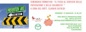 """CASARANO VENERDI' 17 – SEMINARIO FORMATIVO: """"IL FISCO AL SERVIZIO DELLA PREVENZIONE E DELLA SALUBRITA' """""""