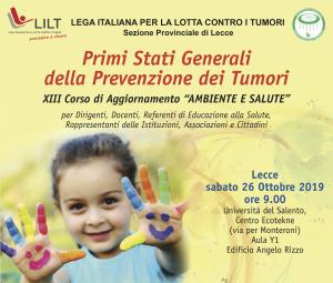 26/10: VERSO I PRIMI STATI GENERALI DELLA PREVENZIONE IN SALENTO